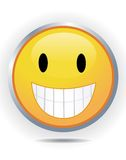Smiley on white Stock Image