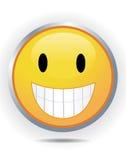 Smiley on white Stock Image