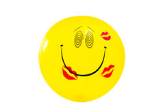 Smiley on white. Royalty Free Stock Photography