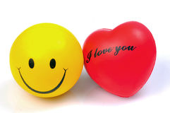 Smiley With Heart Stock Photo