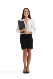 Smiley woman in formal wear Royalty Free Stock Photo