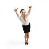 Smiley woman in formal wear Stock Images