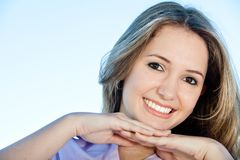 Smiley woman portait Royalty Free Stock Photos