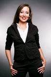 Smiley woman in shirt and jacket Stock Photos