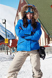 Smiley woman in ski sunglasses Stock Photography