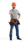 Smiley workman with tools Royalty Free Stock Photo