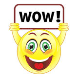 Smiley with wow sign Stock Photography