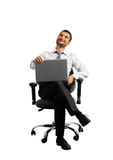Smiley young adult businessman Stock Photos