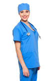 Smiley young doctor Stock Images