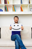 Smiley young man have a good mood Stock Photos