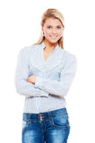 Smiley young woman posing Royalty Free Stock Image