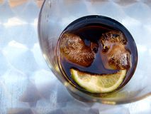 A smiley in your refreshing drink Stock Photography