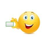 Smiley z białym sztandarem Fotografia Stock