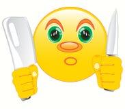 Smiley z nożem w ręce Zdjęcia Stock