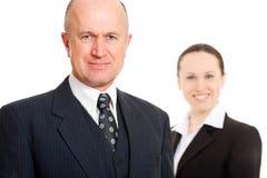 smiley zapewneni ludzie biznesu Fotografia Stock