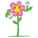 Smileybloem hello stock illustratie
