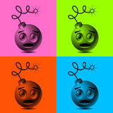 Smileyen bombarderar royaltyfri illustrationer