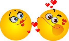 Smileyförälskelsesymbol Royaltyfri Fotografi