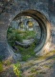 Smileyframsidan som finnas i gammal vattenkraft, fördärvar i Vennesla Norge Royaltyfria Foton
