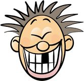 Smileygesicht mit einem fehlenden Zahn Lizenzfreies Stockfoto
