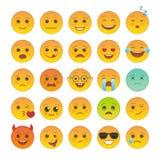 Smileygesicht mit Gesichtsausdrucksatz vektor abbildung