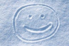 Smileygezicht in de sneeuw Royalty-vrije Stock Fotografie