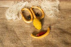 Smileylebensmittelinhaltsstoffe Lizenzfreie Stockbilder