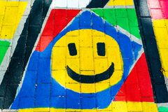 Smileymålning Arkivfoto