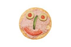 Smileypastete- und -biskuitgesicht Lizenzfreies Stockbild
