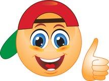 Smileyrotschutzkappe Stockbilder
