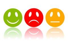 Smileys реакции Стоковое Изображение