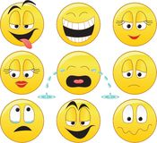 smileys vektor illustrationer