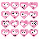 Smileys. Set of various lovely smileys Royalty Free Stock Image