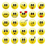 Smileys. Smiley set with different emotions Stock Images