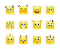 Smileys aliens Stock Photography