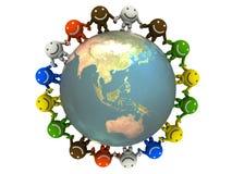Smileys And Globe Royalty Free Stock Photos