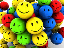 Smileys background Stock Photography
