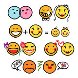 Smileys couples royalty free stock photography