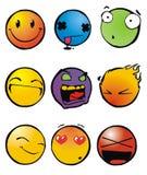 smileys emoticons иллюстрация вектора