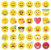 Smileys emoticons isolated vector set