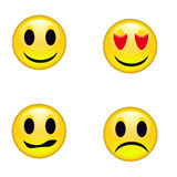 Smileys emoticons. Set of four smileys emoticons Stock Image