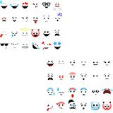 Smileys emoticons vector set stock illustration