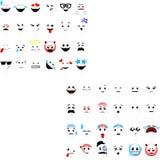 Smileys emoticons vectorreeks stock illustratie