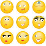 Smileys.Expressions of the persons. Stock Photos