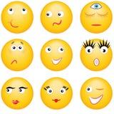 Smileys.Expressions van de personen. Stock Foto's