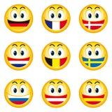 smileys för 1 flaggor Arkivfoton