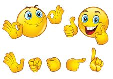 Smileys face with positive emotions royalty free illustration