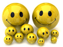 Smileys family Royalty Free Stock Image