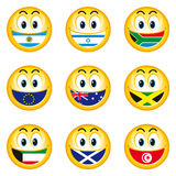 Smileys_flags_5. Illustration of nation smileys with a flag instead of teeth Stock Images