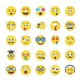 Smileys Flat Icons royalty free illustration